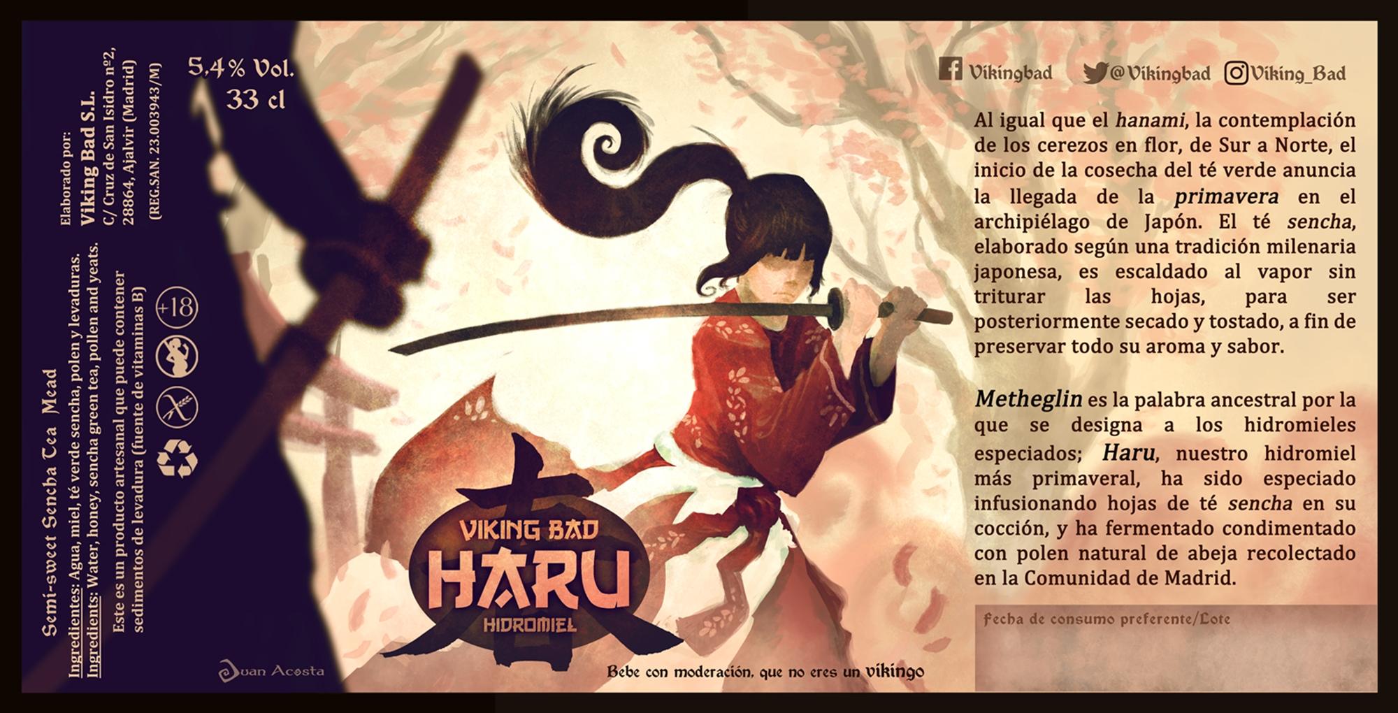 Haru, nueva variedad de hidromiel con sabores nipones